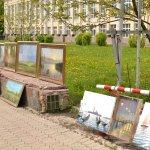 Работы донецких художников на бульваре Пушкина