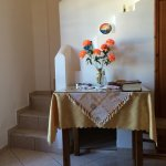 Dining table, leading to Stairs