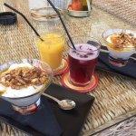 Greek yogurt with nuts and honey