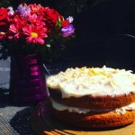 Homemade Tropical Sponge Cake