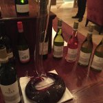Wine decanted