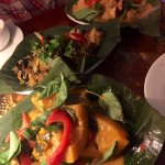 Three very different tofu dishes, including one featuring pumpkin and another drunken noodles..