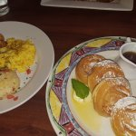 Two Cage Free Farm Fresh Eggs Any Style and Belgian Waffles at Miss Shirley's