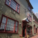 Entrance to America's Cup Inn on Mary Street, Newport