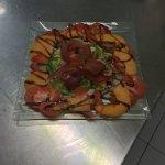 voici l'entree que notre nouveau cuisiner saisonnier a preparé