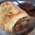 Pork sausage Roll with chilli Jam