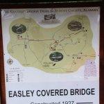 Easley Covered Bridge - Map