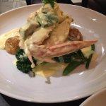 chicken Avocado blue swimmer crab plate