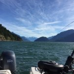 Fishing for chinook salmon near Dent Island Lodge.