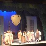 Watching the rehearsal of Figaro
