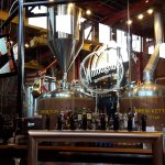 Willoughby brew kettles behind the bar