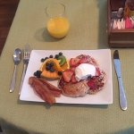 Beautiful breakfast prepared by our chef.