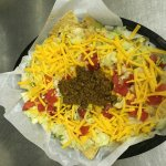 Check out the smothered Nachos, white Cheddar Cheeseballs and that Tiki Burger!