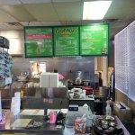 Order counter and menu