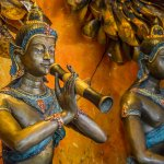 Baan Tawai craft village - metal statue