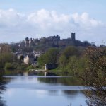 Lancaster Castle, Cathedral and River Lune close to Old Station House guest house in Lancaster