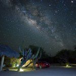 On especially clear nights in the early summer, the milky way is stunning. This is the parking l