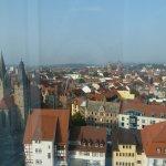 Blick über Erfurt aus dem Zimmer