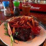 Flat Iron Steak w/sweet potato fries!!