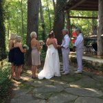 Our ceremony at the innkeepers cottage
