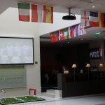 European Football Championship 2016 in hotel lobby