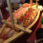 The Boat! There are three rolls we ordered and some nigiri.
