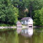 Boat house near landing
