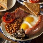 Full English breakfast at the 19th hole bar