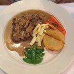 Beef tenderloin with mushrooms