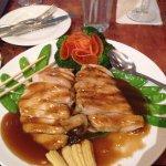 Teriyaki chicken, brown rice and edamame
