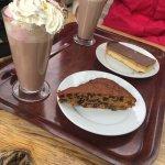 Whisky Fruiy cake, Carmel Shortcake and Hot Chocolates
