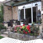 Outdoor dining patio