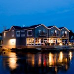 Boathouse Waterfront Hotel at Night