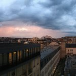 6 floor executive courtyard view - stormy sunset weather