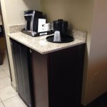 Coffeemaker, fridge