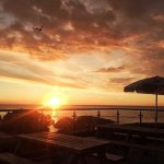 Amazing sunsets from the poop deck at the Pier Brewery Tap And Grill June 2016