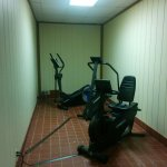 "The ""gym"" -no TV, open space at the end of the hallway, no water cooler, super claustrophobic"