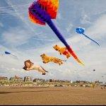 Kite festival on st Anne's beach.