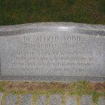 Spy Pond Park Arlington MA memorial stone for Alfred Yood