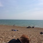 The rocky beach and the English Channel--great combo!