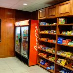 Located in the lobby with a variety of snacks and drinks for sale