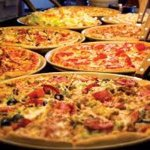 Buffet with Pizza, Salad, Hot Food, Drinks & Dessert