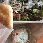 Beef shawarma salad bowl