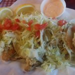 Fish tacos only $6.95!! DEEELICIOUS!