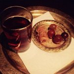 Delicious baklava, refreshing grapes and herbal tea enjoyed in the lounge after a treatment. I w