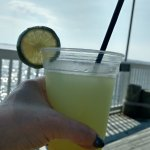 Mango Lime Margarita overlooking the sound.