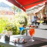 La terrasse du Café Le Grand Prix