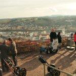 Ausblick über Passau von der Plattform aus