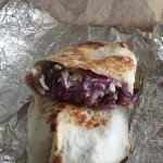 Southwest beef and bean wrap