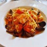 seafood linguini, Union Hotel Restaurant & Bar, Benicia, CA, May 2016